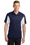 Sport-tek Tall Side Blocked Micropique Sport-wick Polo True Navy with White Thumbnail