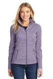 Women's Digi Stripe Fleece Jacket Purple Thumbnail