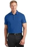 Nike Golf Dri-FIT Stretch Woven Polo Gym Blue with Dark Grey Thumbnail