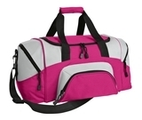 Colorblock Sport Duffel Tropical Pink with Grey Thumbnail