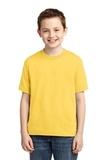 Youth 50/50 Cotton / Poly T-shirt Island Yellow Thumbnail