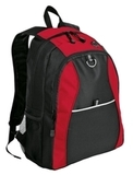 Improved Contrast Honeycomb Backpack Red with Black Thumbnail