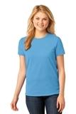 Women's 5.4-oz 100 Cotton T-shirt Aquatic Blue Thumbnail