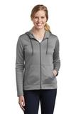 Women's Nike Golf Therma-FIT Full-Zip Fleece Hoodie Dark Grey Heather Thumbnail