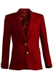 Women's Single Breasted Blazer Red Thumbnail