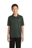Youth Silk Touch Performance Polo Steel Grey Thumbnail