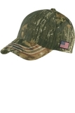 Port Authority Americana Contrast Stitch Camouflage Cap Mossy Oak New Break Up Thumbnail