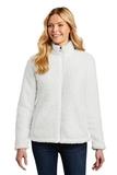 Ladies Cozy Fleece Jacket Marshmallow Thumbnail