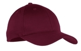 Youth 6-panel Twill Cap Maroon Thumbnail