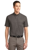 Tall Short Sleeve Easy Care Shirt Bark Thumbnail