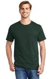 Tagless 100 Comfortsoft Cotton T-shirt With Pocket Deep Forest Thumbnail