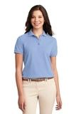 Women's Silk Touch Polo Shirt Light Blue Thumbnail