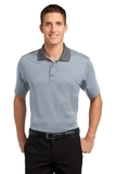 Fine Stripe Performance Polo White with Shadow Grey Thumbnail