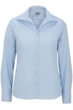 Women's Easy Care Poplin Shirt LS Blue Thumbnail
