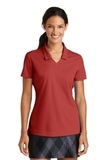 Women's Nike Golf Shirt Dri-FIT Micro Pique Polo Shirt Varsity Red Thumbnail
