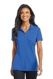 Women's Cotton Touch Performance Polo Strong Blue Thumbnail