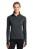 Women's Stretch 1/2-zip Pullover Charcoal Grey Thumbnail