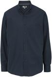 Men's Cotton Twill Rich Long Sleeve Twill Shirt Navy Thumbnail