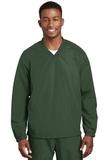 V-neck Raglan Wind Shirt Forest Green Thumbnail