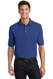 Pique Knit Polo Shirt With Pocket Royal Thumbnail