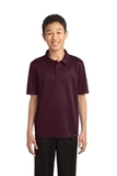 Youth Silk Touch Performance Polo Maroon Thumbnail
