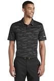 Nike Golf Dri-FIT Waves Jacquard Polo Black Thumbnail