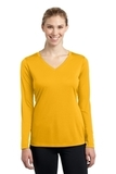 Women's Long Sleeve V-neck Competitor Tee Gold Thumbnail