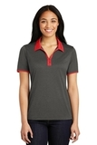 Women's Snag-Resistant Heather Contender Contrast Polo Graphite Heather with True Red Thumbnail