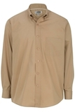 Men's Easy Care Poplin Shirt LS Tan Thumbnail