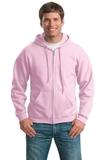 Full-zip Hooded Sweatshirt Light Pink Thumbnail