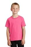 Youth 5.5-oz 100 Cotton T-shirt Neon Pink Thumbnail