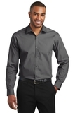 Slim Fit Carefree Poplin Shirt Graphite Thumbnail