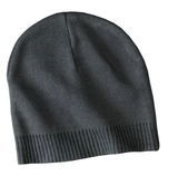 100 Cotton Beanie Graphite Thumbnail