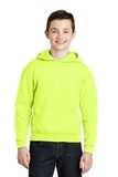 Youth Pullover Hooded Sweatshirt Safety Green Thumbnail