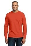 Long Sleeve 50/50 Cotton / Poly T-shirt Orange Thumbnail