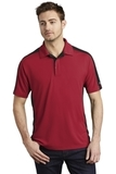 OGIO Trax Moisture Wicking Polo Signal Red with Blacktop and Silver Grey Thumbnail