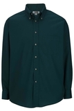 Men's Button Down Poplin Shirt LS Teal Thumbnail