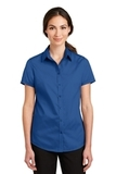 Women's Short Sleeve SuperPro Twill Shirt True Blue Thumbnail