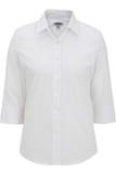 Women's 3/4 Sleeve Poplin Shirt White Thumbnail