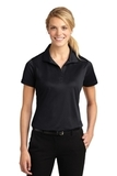 Women's Micropique Moisture Wicking Polo Shirt Black Thumbnail
