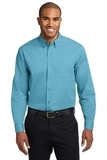 Extended Size Long Sleeve Easy Care Shirt Maui Blue Thumbnail