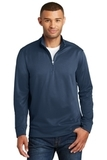 Performance Fleece 1/4Zip Pullover Sweatshirt Deep Navy Thumbnail