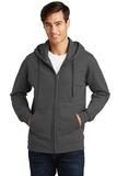 Port & Company Fan Favorite Fleece Full-Zip Hooded Sweatshirt Charcoal Thumbnail