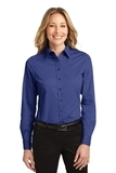 Women's Long Sleeve Easy Care Shirt Mediterranean Blue Thumbnail