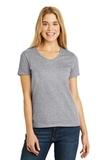 Women's V-neck T-shirt Light Steel Thumbnail