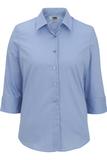 Women's 3/4 Sleeve Poplin Shirt Sky Blue Thumbnail