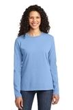 Women's Long Sleeve 5.4-oz 100 Cotton T-shirt Light Blue Thumbnail