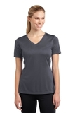 Women's V-neck Competitor Tee Iron Grey Thumbnail