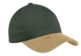 2-tone Brushed Twill Cap Loden with Khaki Thumbnail