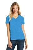 Women's Made Perfect Blend V-Neck Tee Heathered Bright Turquoise Thumbnail